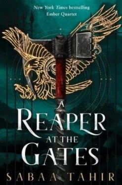 Reaper at the Gates book cover, sword entwined with emblem of eagle