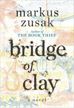 Bridge of Clay cover faded watermark images underneath text
